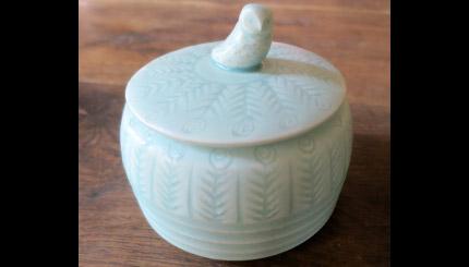 Boîte céladon en porcelaine